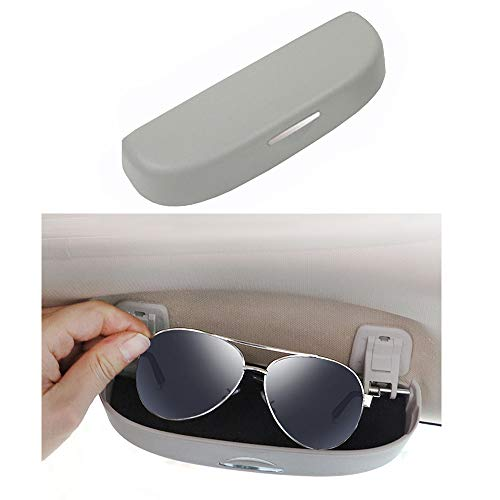 Estuche para Gafas de Sol para automóvil Soporte Universal para Gafas de Coche para 320 328 F07 F10 F11 F48 520 528 X1 X3 X5 E90 E91 F31 F34 F30 (Gris)