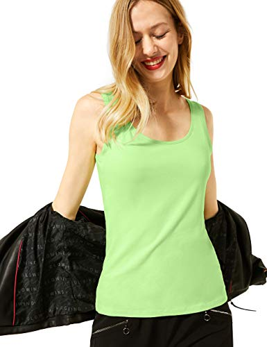 Street One Damen Style Anni T-Shirt, Sunny Lime, 38