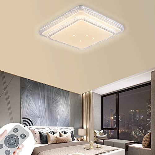 80W Plafón LED decoración de cielo estrellado lámpara de techo con control remoto lámpara de salón o dormitorio de bajo consumo (80W regulable 3000-6500K)