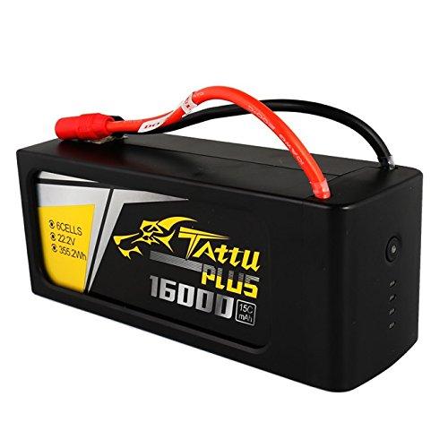 Tattu 16000 mAh 22,2 V 15C 6S1P Lipo Pack Batteria con AS150 + spina XT150 per UAV Drone FPV Corsa RC Quadricottero DJI S900 S1000 1000+ OnyxStar FOX-C8-HD