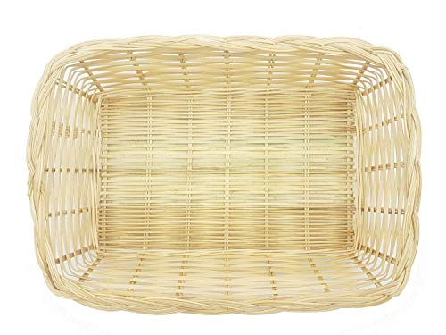 MY HOPE Wicker Bamboo Rectangular Basket Serving Fruit Morning Breakfast Size 8 x 11 inch, 2 Pcs