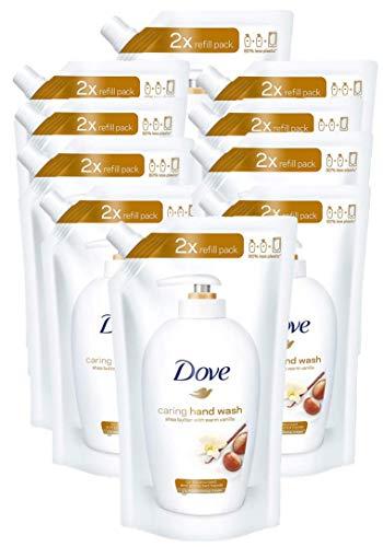 Dove Pflegende Hand-Waschlotion Sheabutter und Vanilleduft Nachfüller (10 x 500 ml)