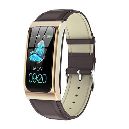 YDK AK12 Ladies Smart Watch 1.14 Pulgadas Pantalla de Color IP68 Impermeable Tasa del corazón Cronómetro Reloj de Alarma Reloj de Alarma Reloj de natación PK X3 S2 para Android iOS,B