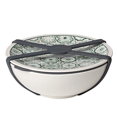 like. by Villeroy & Boch - To Go Schale M, Aufbewahrungsbox für Essen, Premium Porzellan, grün, 350 ml, spülmaschinengeeignet