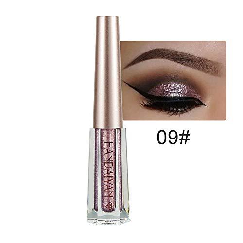 Maquillaje cosmético Yesmile ❤️ Color metalizado Ojos brillantes ahumados sombra de ojos Brillante a prueba de agua Delineador líquido