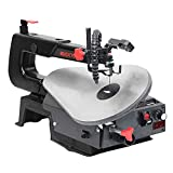 BUCKTOOL 16-inch Variable Speed Scroll Saw Pin or Pinless Blade with Pedal Switch Cast Iron Work Table New Model