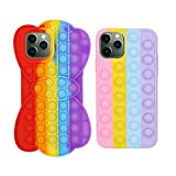 2 Pcs Fidget Toys Phone Case, The Toys Phone Case can Relieve Anxiety and Autism, and The Colorful Silicone Phone Case can Protection of iPhone Mobile Phone (2Pcs, iPhone XR)