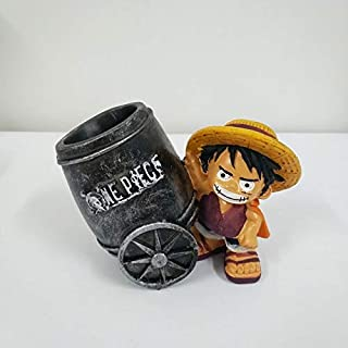 Scallion Creative Animation Luffy Tony Chopper Night Pen Holder Action Figure Toys Doll Resin Crafts Ornaments Gifts Must-Have Baby Gifts Toddler Favourite Superhero Decorations Childhood Dream