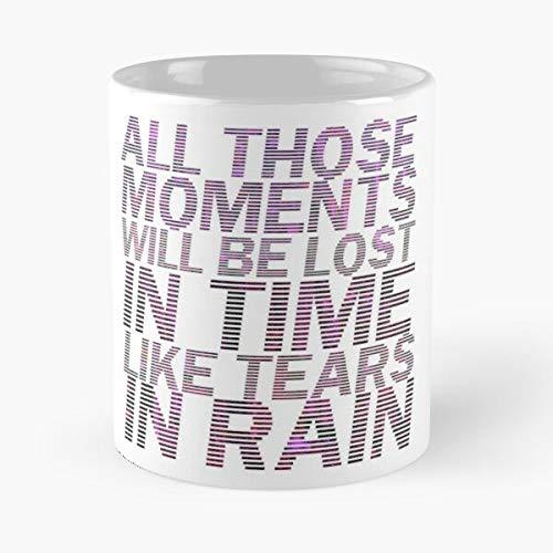 Desconocido Tears Cult Runner Movie Rain Quote In Blade Neon Taza de café con Leche 11 oz