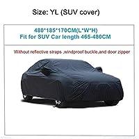 車カバー 車のカバーの屋外の天気防水 傷の雨の降雪防止保護車のカバー (Color Name : YL 480x185x170cm)