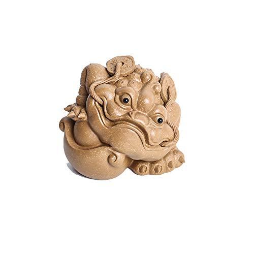 Estatua chinesische Feng Shui Feng shui dinero rana dinero sapo sapo estatua Tres legged sapo riqueza rana para caja registradora oficina oficina de escritorio apertura regalo regalo casa oficina deco