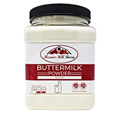 Contains 1 Pound Buttermilk powder, in a plastic jar sealed to preserve freshness and shelf-life. Buttermilk is a result of making butter that during the churning process remains more of a liquid. Pure dehydrated buttermilk from Wisconsin. Perfect fo...