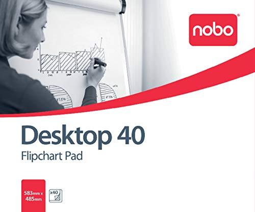 Nobo Desktop Flipover-Block voor Flipover-schildersezel 40 vellen B1 blanco (1 stuks)