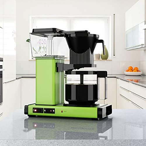 American Drip Coffee Machine, Stainless Steel Coffee Maker, Analog Hand Brewing Coffee Machine, 1.25L Large Capacity, Suitable For Home Kitchen And Office,Green