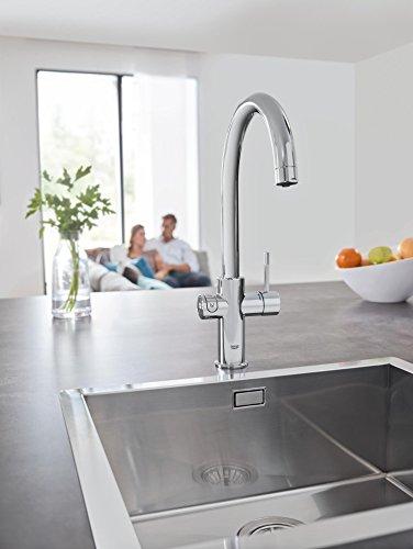 Grohe Blue Home Duo – 2-in-1 Trinkwassersystem und Küchenarmatur (gekühlt, gefiltert, mit Kohlensäure, C-Auslauf) 31455000 - 8