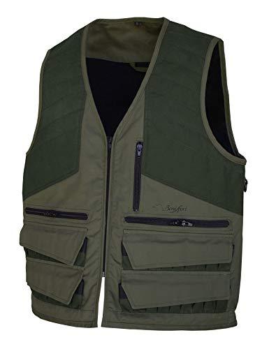 BENISPORT Chaleco de caza selva caqui - Doble cartuchera con solapa de cierre - Morral - Chaleco para escopeta (3XL)