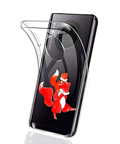 Suhctup Coque Compatible avec Huawei Mate 20 Lite,Ultra-Mince Souple Gel Coque Souple Soft Silicone [Shock-Absorption] Souple Solide Resistant Fine Protection Housse Etui Transparente Motif Tendance