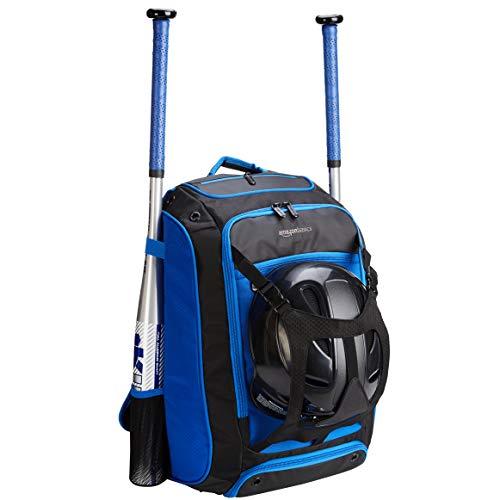 AmazonBasics - Rucksack für Baseball-Ausrüstung, Blau