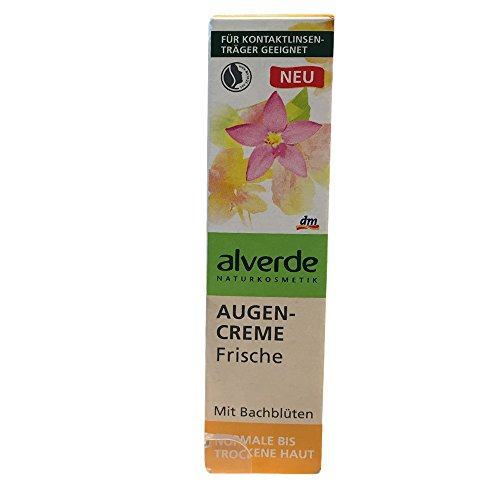 alverde Augencreme Frische mit Bachblüten für normale bis trockene Haut (15ml Tube)