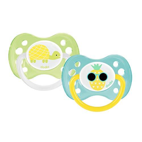 Dodie A13 - Chupete dúo, diseño niña mariposa/princesa