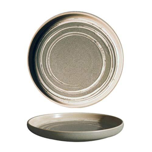 Houer Keramisch bord thuis ontbijt gerecht knoedel gebakken rijst ondiepe mond kom lade, C, L