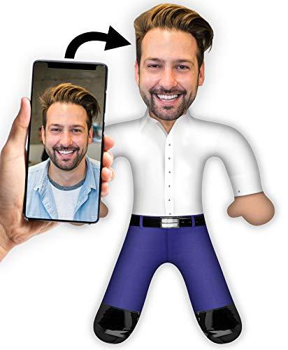 XXL Foto - Kuschel Plüsch Puppe mit Deinem Gesicht 50 x 30cm MiniMe Kissen (Business)