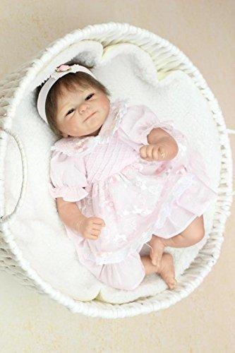 Nicery Reborn Bébé Poupée en silicone souple 18inch 45cm Magnétique beau jouet Lifelike Mignon Garçon Fille Sourire Se leva Baby Doll A3FR