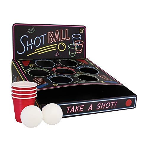 Paladone Shot Put Style Drinking Game | Inclusief doelen, bekers en pingpongballen | voor feesten, meerdere kleuren, ongeveer. 27 x 24 x 6 cm