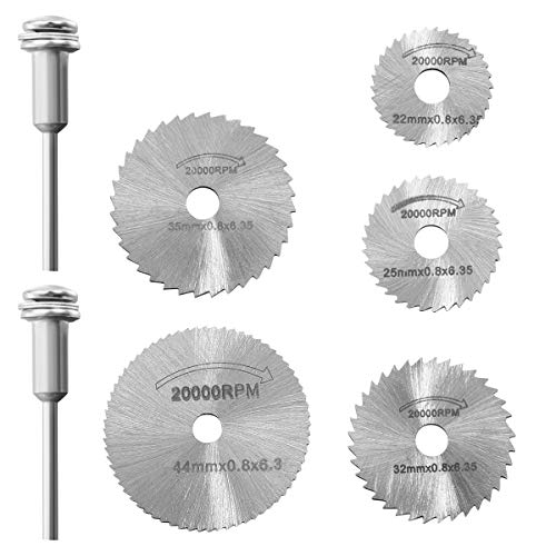 Hemobllo 7pcs / set Mini HSS hoja sierra circular