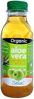 SALOE ORGANIC JUICE OF ALOE VERA WITH APPLE ECO FROM SPAIN 400ML; سالو 400 مل عصير الألوفيرا (الصبار) مع عصير التفاح - عضوي