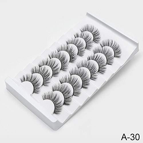 NO LOGO HMLSM 8/20 Paires de Faux Cils naturels 3D de Faux Cils Maquillage Kit Lashes Extension Cils (Couleur : A30, Curl : CURL)
