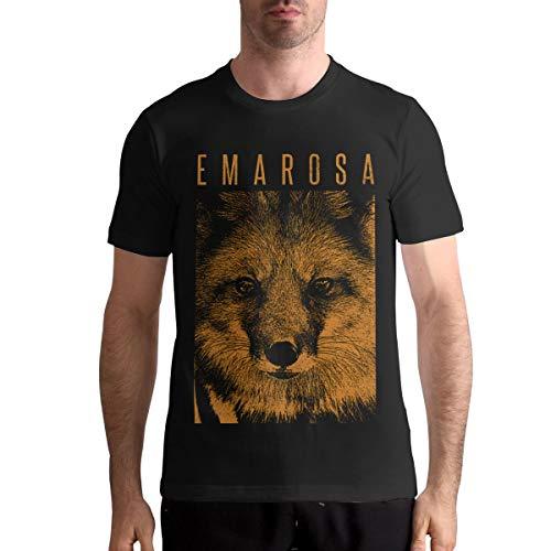 Emarosa Men's Fashion Tops Short Sleeve T-Shirt Crew Neck Cotton Tee 3XL Black