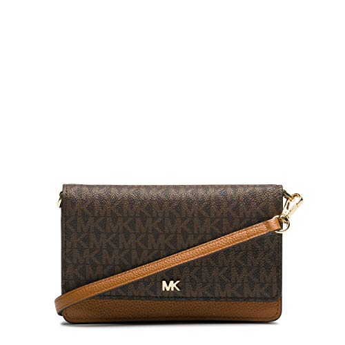 Michael Kors Damen MOTT PHONE CROSSBODY, Brown, Einheitsgröße