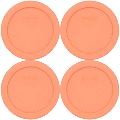 Pyrex 7202-PC Bahama Sunset tapas de repuesto de almacenamiento de alimentos de plástico – paquete de 4