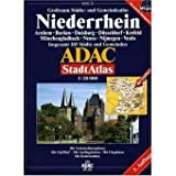 ADAC StadtAtlas Niederrhein mit Arnhem, Borken, Duisburg, Düsseldorf, Krefeld, M