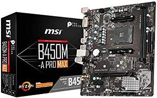 MSI B450M-A Pro Max AM4 DDR4 3466/OC DVI HDMI M.2 USB3.2 mATX Ana Kart