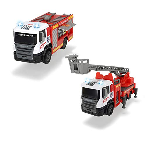 Kleines Feuerwehrauto mit Blaulicht und Sirene ab 3 Jahren Spielzeugauto Kinder Spielzeug Jungen Auto Fahrzeug Feuerwehr Rollenspiel Licht Sound Spielzeugautos Kinderspielzeug Kleinkind Löschfahrzeug