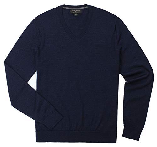 Banana Republic - Men's - Merino Wool V-Neck Sweater (Multiple Color/Size Options) (Medium, Navy)