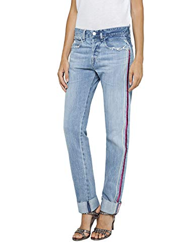 Replay Damen HETER Boyfriend Jeans, Blau (Light Blue 10), W32/L32 (Herstellergröße: 32)