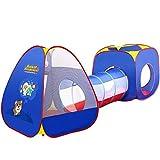 Kids Play 3-Teiliges Schloss Spiel Zelt Tunnel Pop Up Spielzeug-Zelt Eltern-Kind-Interaktion Early Education Geschenk Mediterraner Stil Für Indoor Outdoo
