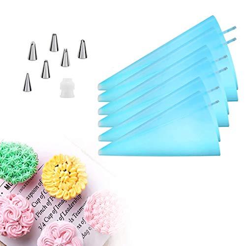 Set da 8 pezzi di sac à poche riutilizzabile in silicone per sac
