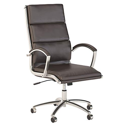 Office by kathy ireland Method High Back Leather Executive Office Chair, Brown