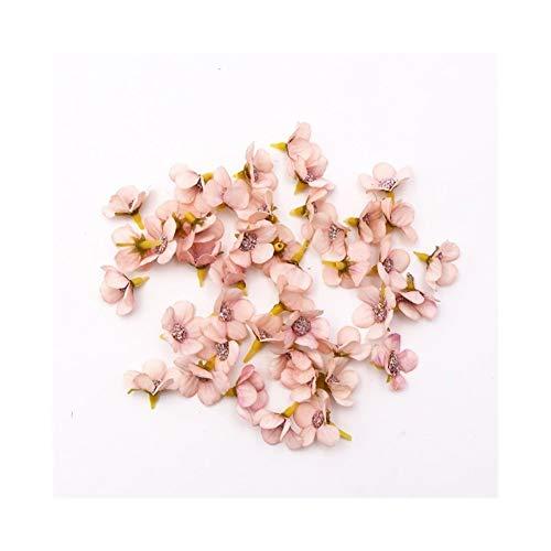 JINSUO JMBH314 50/100pcs Multicolor Daisy Flower Head Mini Silk Artificial Flower for Wedding Engagement Party Home Decor DIY Garland Headdress (Color : D Pink, Size : 50pcs)