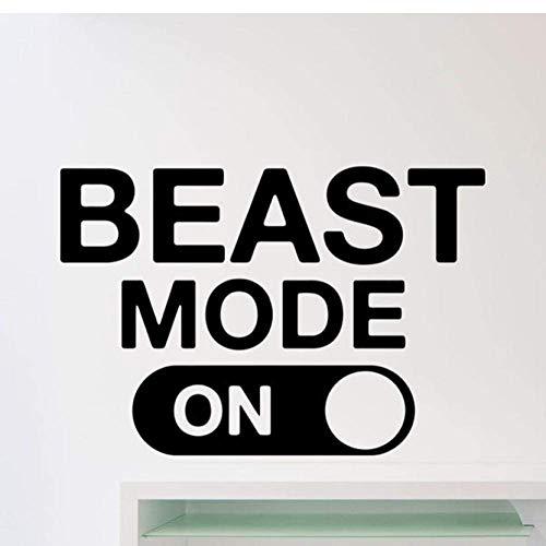 Beast Mode Wandtattoo Fitness Gym Motivationszitat Aufkleber Home Crossfit Sport Poster Workout Inspirational Art Decor 37X57 Cm