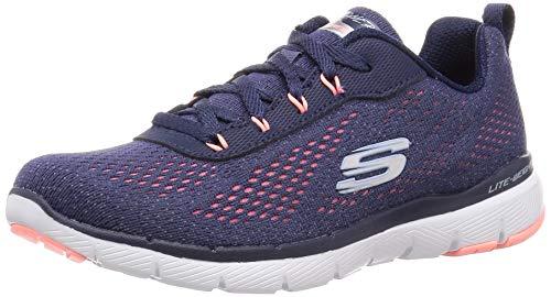 Skechers Damen Flex Appeal 3.0 Sneaker, Blau, 38 EU