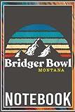 Notebook: Bridger Bowl Montana - USA Ski Resort 1980s Retro 100 page 6x9 inch