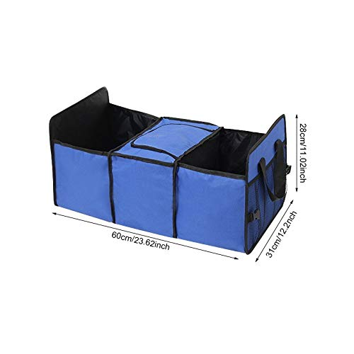 Auto achter Rack Opbergbox organizer Drink Food Isolatie Ijs Mand Auto Gereedschap Container Automobiles Interieur Accessoires items Auto Opbergdoos Blauw