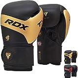 RDX Guantoni Boxe per Muay Thai And Allenamento Kalix Pelle Combattimento Guanti da Sacco per Sparring, Kickboxing Grande per Sacchi Pugilato, Colpitori Punzonatura, Boxing Gloves