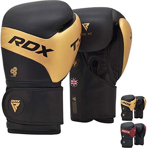 RDX Kalix - Guantes de boxeo para Muay Thai y entrenamiento de piel, guantes de combate para sparring, kickboxing grande para sacos de boxeo, golpeadores de punzón, boxeo