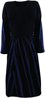 Playa-Verano-Urban sueros para decoraciones para mujer-camiseta de manga larga vestido Sexy Maxi triángulo Funky (negro)